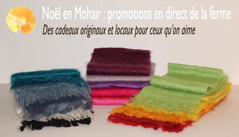 illustration Noël en mohair : promotions